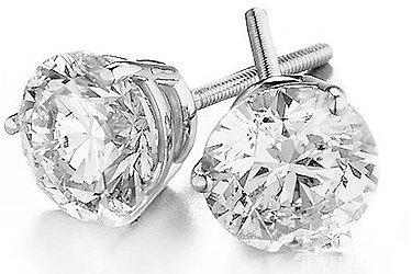 4 10 Carat Huge Diamond Stud Earrings