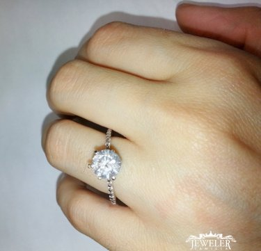 1.85 CARAT Diamond Solitaire Engagement Ring