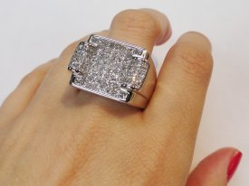 Men Diamond Pinky Ring