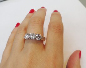 2.04 CARAT Diamond Anniversary Ring