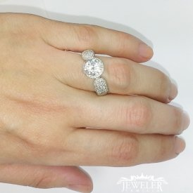 2 CARAT Halo Diamond Engagement Ring