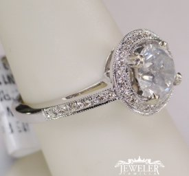 1.54 CARAT HALO DIAMOND ENGAGEMENT RING