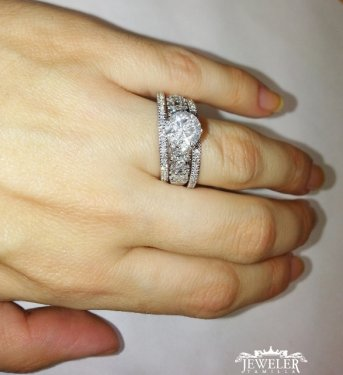 3 CARAT Diamond Engagement Ring Set