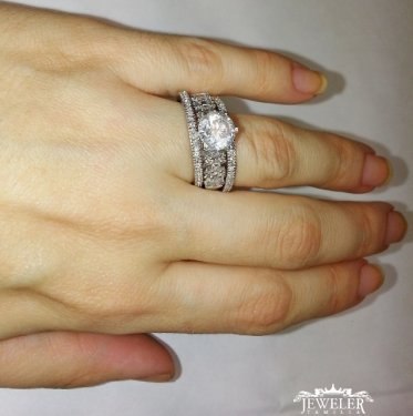 3 CARAT Diamond Engagement Ring Set 3 CARAT Diamond Engagement Ring ... 4454a2ca2a