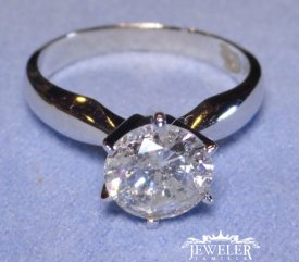 1.46 CARAT Diamond Solitaire Engagement Ring